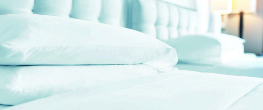 Clean and Sanitized linens provided through our Hospitality laundry & Hospitality Linen service